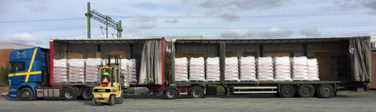 Linkotrailer pellets