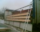 Montering av takelement, Breviks skola Tyresö.