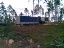 En nyplanterad lastbil. Timmerstomme Evertsberg.