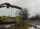Montering reklamstolpe (Ludvika)