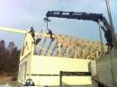 Montering av takstolar. Lappli-hus Kungälv.
